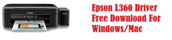 Epson L360 Driver Free Download