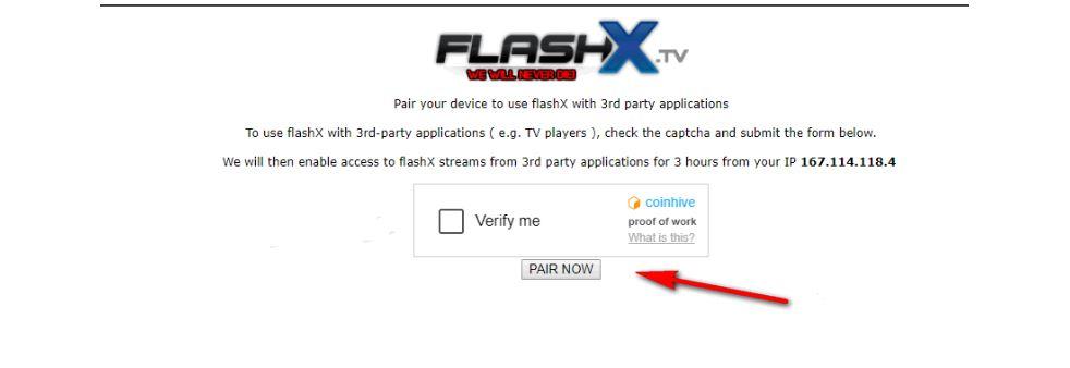 Verify me Flashx.tv/pair