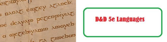 D&D 5e Languages