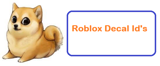 Roblox Decal Id's 2019