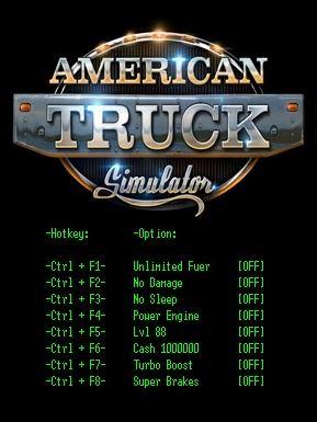 American Truck Simulator Cheats
