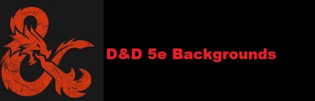 D&D 5e backgrounds
