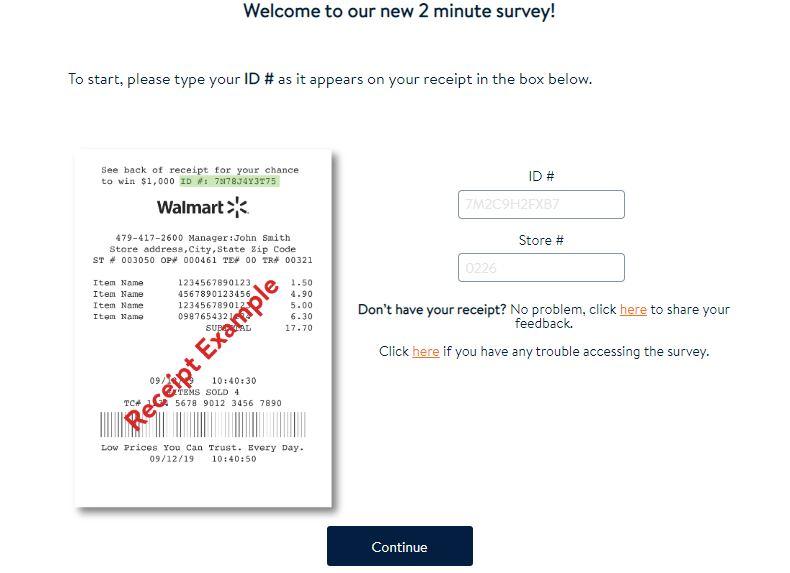 walmart survey online