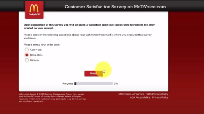 McDvoice 2020 – McDonalds Survey Official Site on www.mcdvoice.com