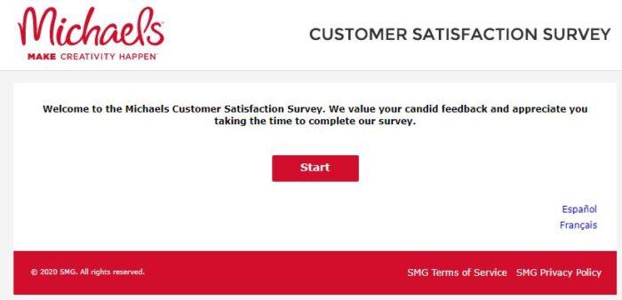MyMichaelsVisit  official survey