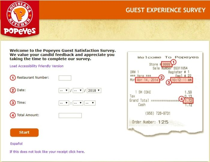 TellPopeyes Survey – Popeyes USA Guest Experience Survey